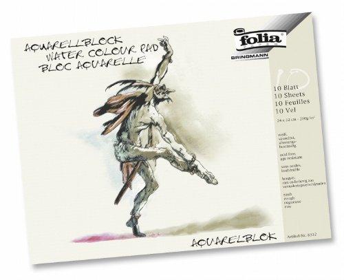folia 8334 - Aquarellblock, 200 g/m², 36 x 48 cm, 10 Blatt