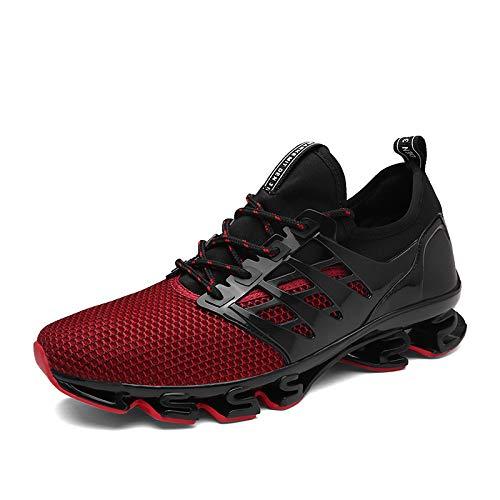 0e8b4cdaba2 WDDGPZYDX Hombres Zapatillas de Deporte de Primavera Malla Transpirable de  Moda Masculina amortiguación Calzado Causal Aumento