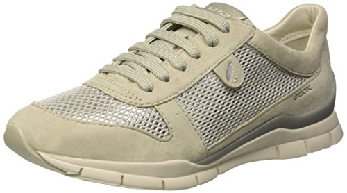 Geox Damen D Sukie A Sneakers, Weiß (IVORYC1008), 38 EU