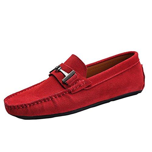 Sk studio mocassini uomo pelle scarpe da barca eleganti loafers slip on nero scarpe di guida