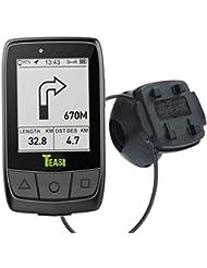 Teasi Core Fahrradcomputer + Tahuna App + USB Netzteil + Fahrradhalter m. Kugelgelenk, Lenkermontage