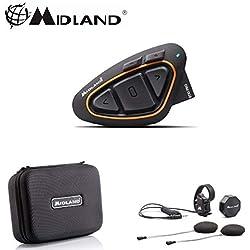 C1230 Interphone BT X1 Pro Midland Simple Casque Crossover Moto Bluetooth