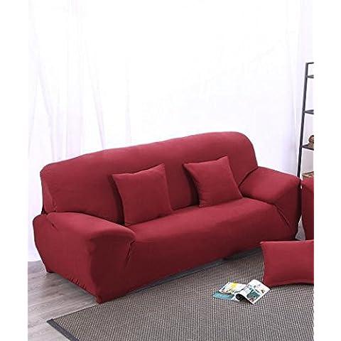 desy Fodera per divano Slipcover continentale in Europa e America completo copre generale giardino divano asciugamano cuoio opaco tessuto , wine , 2seater