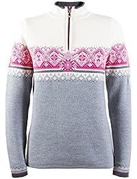 Dale of Norway Jersey para mujer St Moritz, color gris jaspeado/pizarra/blanco roto/allium, talla M, 91461-T
