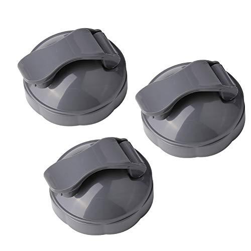 NutriBullet Flip Top To-Go - Juego de 3 exprimidores de tapa y piezas de repuesto para licuadora 600...