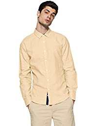 United Colors of Benetton Men's Solid Slim Fit Cotton Casual Shirt