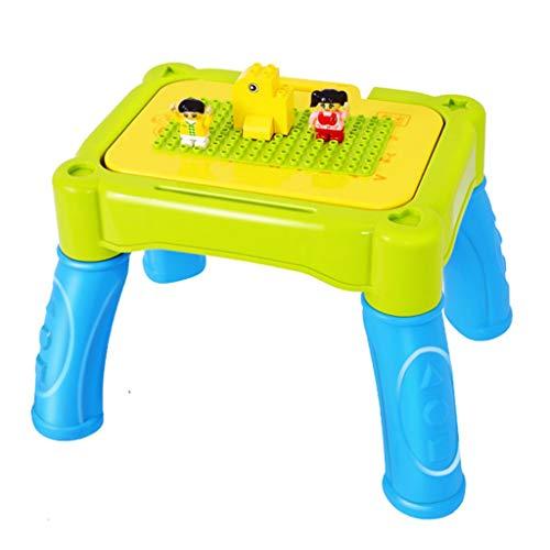 Tische & Stühle Kindertisch Puzzle Malerei Spielzeug Tisch Spieltisch Multifunktions Studie Tisch (Color : Green) -