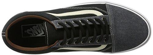 Vans U Old Skool, Baskets mode Homme Noir (Black/Blackt/h)