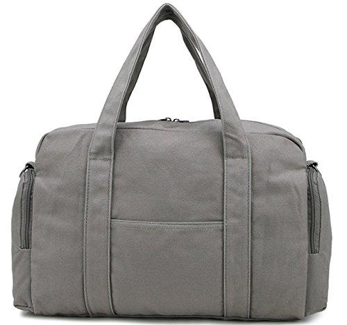 Männer Und Frauen Handtaschen Big Bags Canvas Casual Jungen Und Mädchen Doppelreißverschluss Multi-Fach Einfach,A C