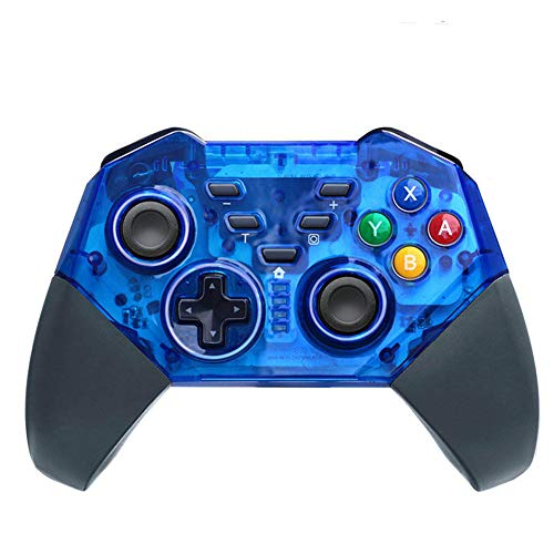 2019 Wireless Controller für Nintendo Switch Kabelloser Bluetooth Gamepad Controller Doppelmotor Axis Gyro Turbo Kompatibel mit Nintendo Switch,Blue