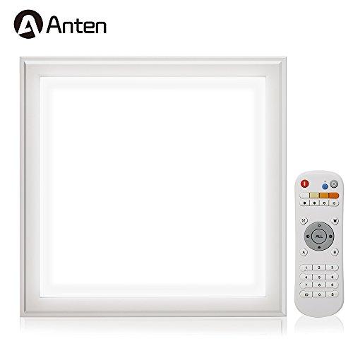 Preisvergleich Produktbild 2x Anten LED Panel Helligkeit Einstellbar 30x30cm 12W kaltweiß (6000-6500K) Ultraslim Pendelleuchte Hängeleuchte mit Befestigungsmaterial und LED Treiber / Trafo