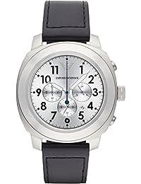 TW Steel correa de reloj TWB38 Cuero Negro 22mm + costura naranja(Sólo reloj correa - RELOJ NO INCLUIDO!)
