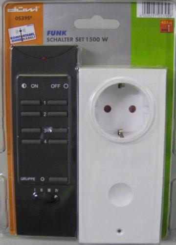 Preisvergleich Produktbild Funk Schalter Set 1500 W 433,92 MHz Sender & Empfänger