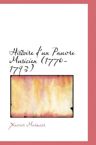 Histoire d'un Pauvre Musicien (1770-1793)