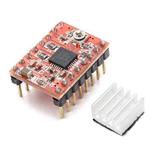 Haljia 3D Printer Arduino Stepstick A4988RepRap stepper modulo con dissipatore di calore