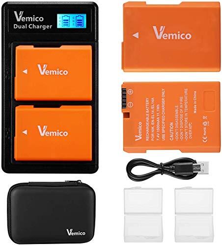 Vemico EN-EL14 EN-EL14a Akku Ladegerät Kit für