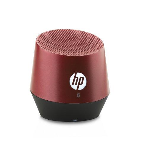 HP S6000 (E5M83AA) Mini Bluetooth Lautsprecher (Bluetooth-fähig, Microsoft Windows XP/Vista/7/8/Android 3.0 /Apple iOS 4.3, integriertem Akku, bis zu 8 Stunden Laufzeit) rot