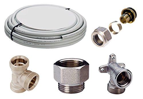 WIROFLEX | Installationsset | Schraubsystem | Rohr | Flexibel | Mehrschicht-Verbundrohr | DVGW | 16 x 2 mm | 10 m