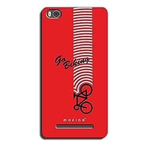 Mozine Go Biking printed mobile back cover for Xiaomi mi4c