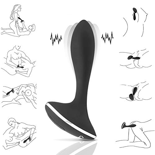 Analvibrator Massagegerät mit Stark Motor, Louviva Prostata Vibratoren Prostate Stimulator mit 10 Vibrationsmodi, 100% Medizinisches Silikon Sexspielzeug für Paar