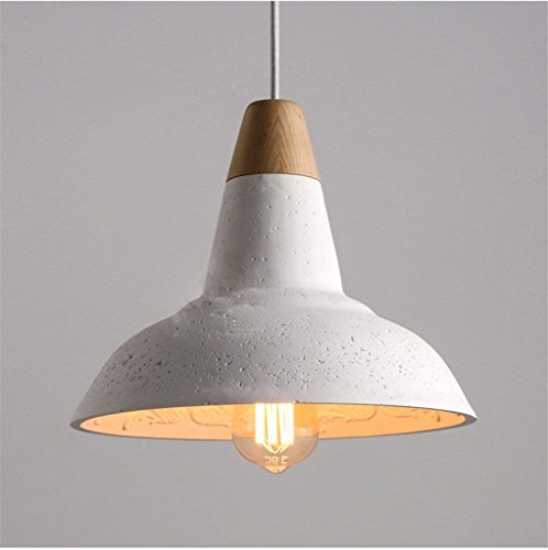 CRL Innenbeleuchtung Kronleuchter Minimalist Restaurant Licht Kreative American Retro Air Garten Woody Weiß Zement Gips Kronleuchter Haushaltsbeleuchtung -