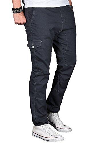 305a4253d446 A. Salvarini Herren Stretch Cargohose Cargo Jogg Jeans Hose mit  Elasthananteil Jogging Sweathose Slim AS031 ...