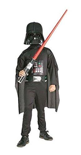 Darth Vader Box: Kinder Kostüm mit Lichtschwert & Maske, (Halloween 2017 Kostüme Die Originelle Für Ideen)