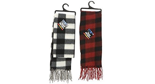 Tartan Design Fleece Scarf 140Cm X 28Cm - Set Of 2
