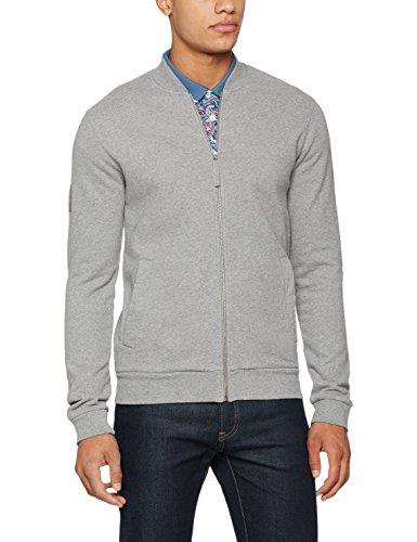 Pretty Green Herren Sweatshirt Mens Ranford Zip Sweat Grey (LIGHT GREY MARL)