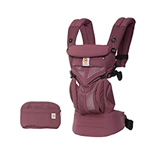 Ergobaby Baby Carrier for Newborn to Toddler, 4-Position Omni 360 Cool Air Plum, Breathable Ergonomic Child Carrier & Backpack   4