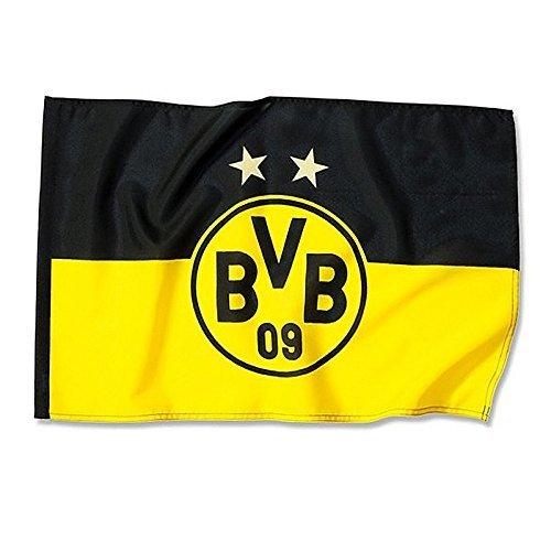 Hissfahne 2 Sterne 150x100 cm Borussia Dortmund Fahne Flagge BVB 09
