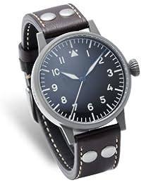 Laco 1925 - Reloj analógico de cuarzo para hombre con correa de piel, color marrón