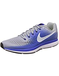 Nike Men's Air Zoom Pegasus 34 Grey Blue Running Shoes(880555-007)
