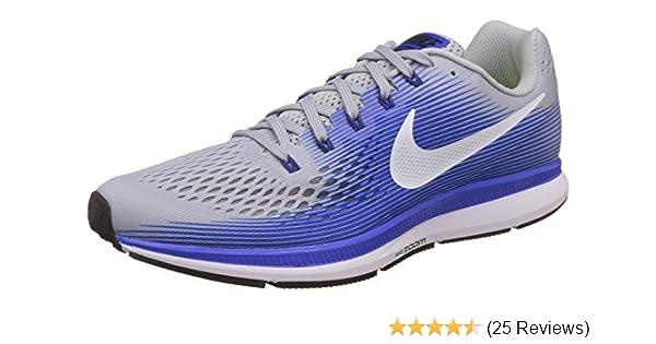 outlet store 52f23 f1c87 Nike Herren Air Zoom Pegasus 34 Laufschuhe, Schwarz (Black White-Dark  Grey), Talla  Amazon.de  Schuhe   Handtaschen