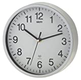 Unity Radcliffe Radio Controlled Wall Clock, Silver