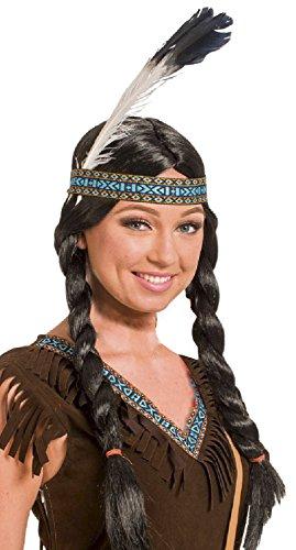 Folat 26822 - Perücke Indianerin, One Size, (Themen Kostüm Zubehör Western)