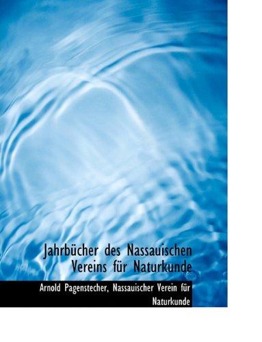 Jahrb Cher Des Nassauischen Vereins F R Naturkunde