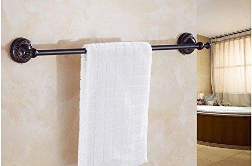 GuoEY Badezimmer Dry-Towels Handtuch Bronze Kupfer europäischen Dark Single Bar beheizten Handtuchhalter (Single Bar Load)