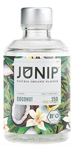JUNIP Organics - natürliches Bio Aroma (Kokosnuss), 250 ml Flasche für 50 Gläser Wasser