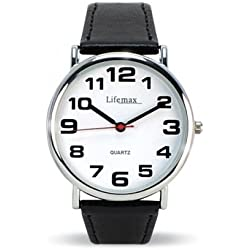 Lifemax Clear Time Watch Mens Leather Strap 421.1L