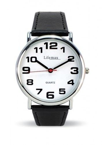 - 41c6PTCT 2BML - Lifemax Clear Time Watch Mens Leather Strap 421.1L