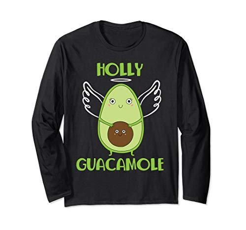 Holy Guacamole Avocado Lover Funny Vegetarian Langarmshirt