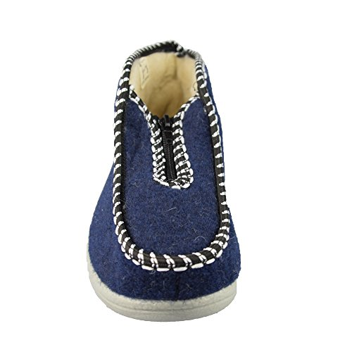 Aus Gr Warme Damenhausschuhe Schafswolle 42 Farbe Bts Mit Futter Blau Blau 36 paI44wq
