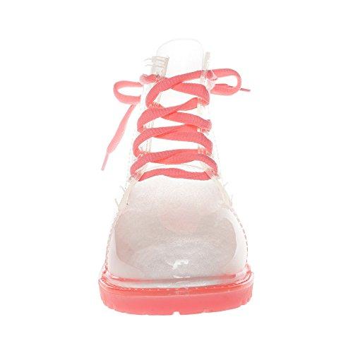 JellyJolly Martin Bottes de Pluie Imperméable pour Femme Pink Sole