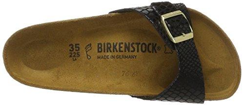 Birkenstock Classic Madrid Birko-Flor, Sandali Unisex - Adulto Black