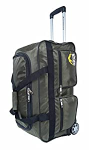 "Outdoor Gear Ballistic Nylon Luggage Wheeled Holdall Travel Trolley Suitcase Holiday Weekend Bag - Medium 24"" Large 30"" Extra Large 34"""