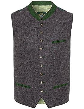 Hammerschmid Herren Trachtenweste anthrazit-grün Luis 002226