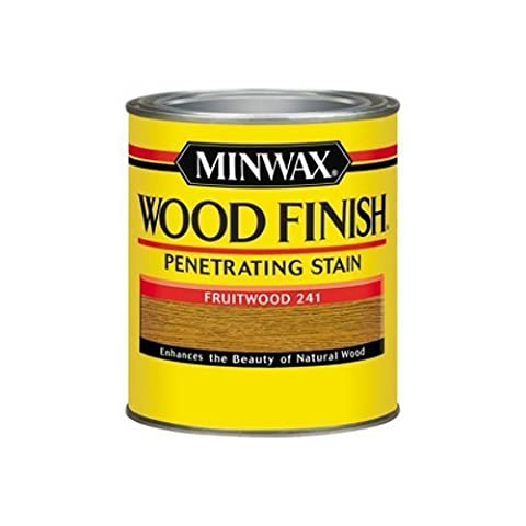 Minwax 70010 1 Quart Wood Finish Interior Wood Stain, Fruitwood by Minwax