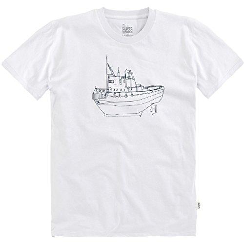 Cleptomanicx Herren T-Shirt Tugger White