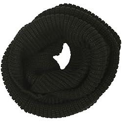Cuello caliente de punto (negro)